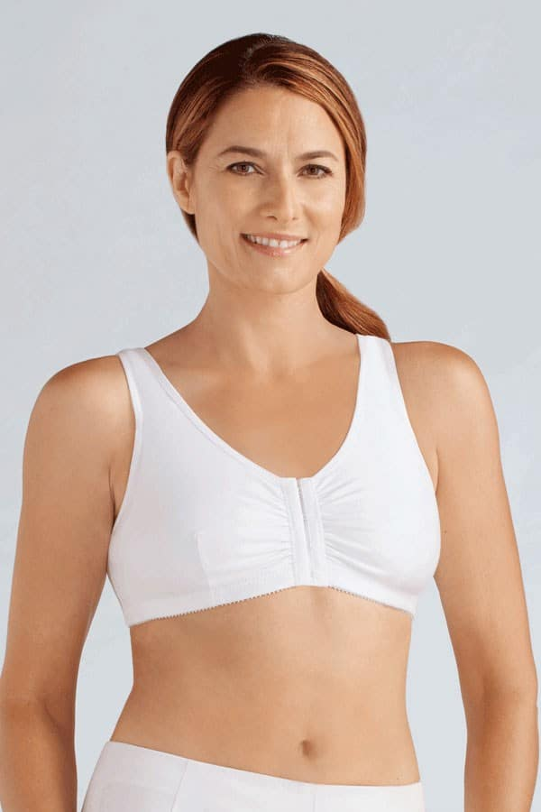 cb30279a161 Amoena Cotton Leisure Front Closure Mastectomy Bra